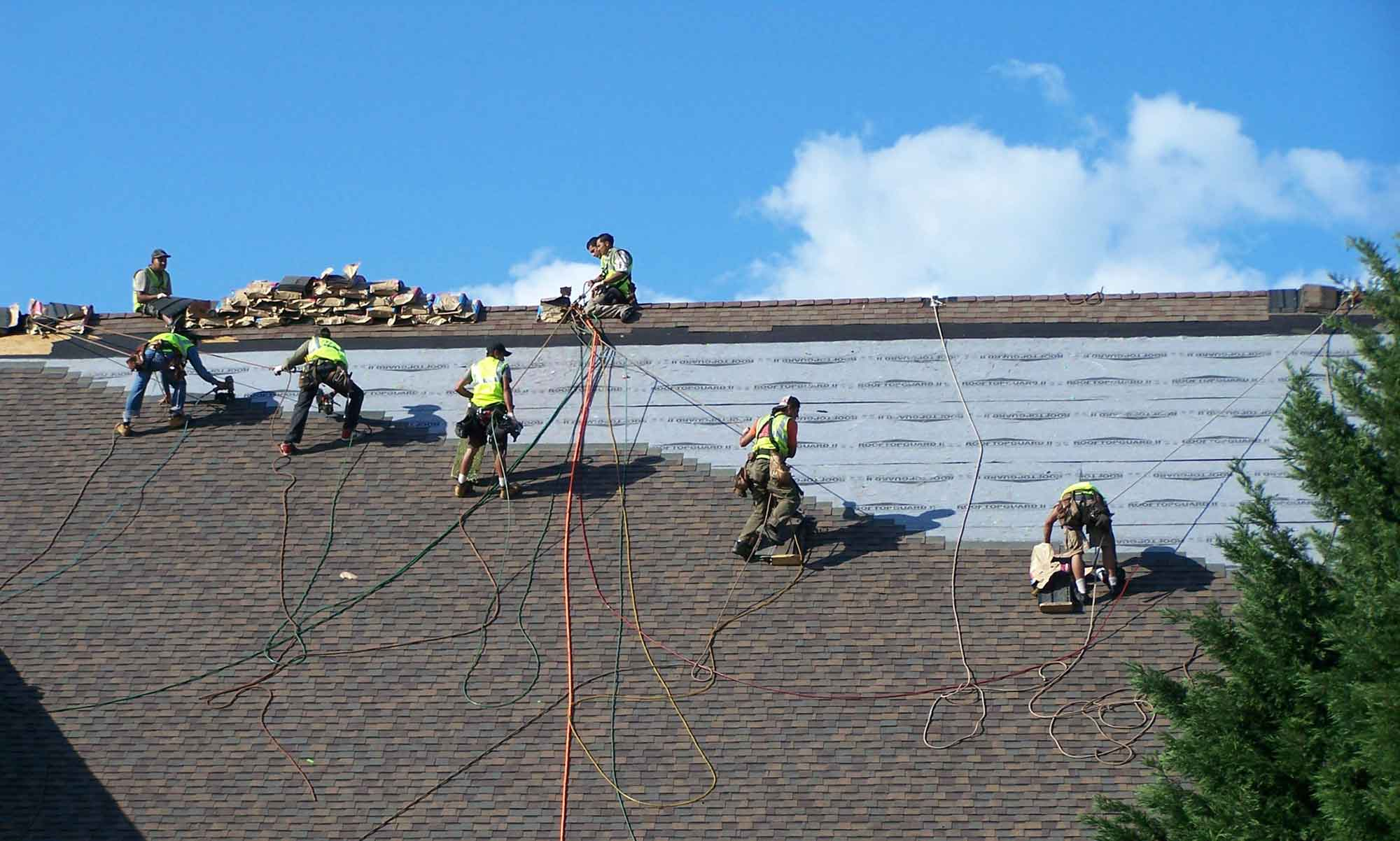 commercial and residential roofing replacement